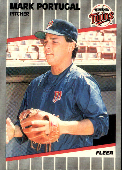 1989 Fleer #123 Mark Portugal front image