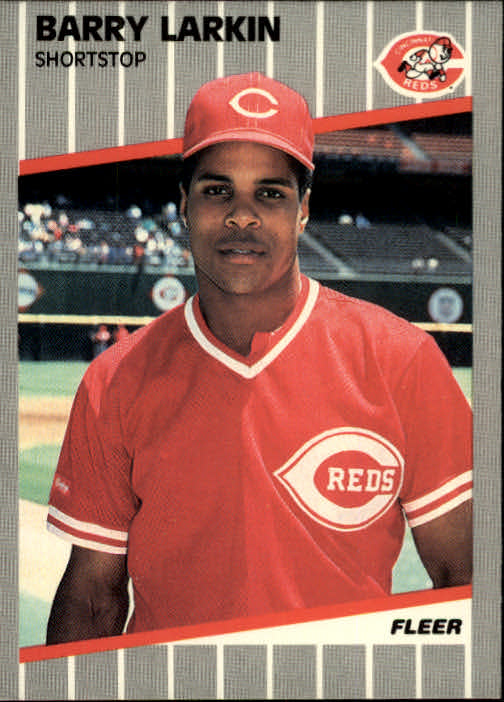 1989 Fleer #164 Barry Larkin front image