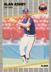 1989 Fleer #350B Alan Ashby COR