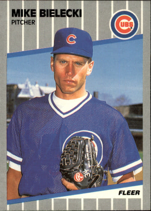 1989 Fleer #419 Mike Bielecki
