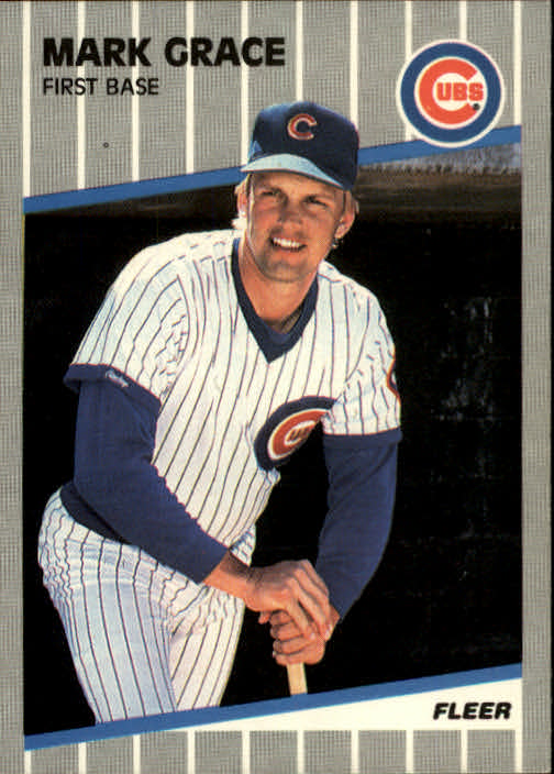 1989 Fleer #426 Mark Grace