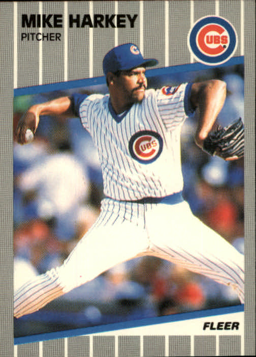 1989 Fleer #427 Mike Harkey RC front image