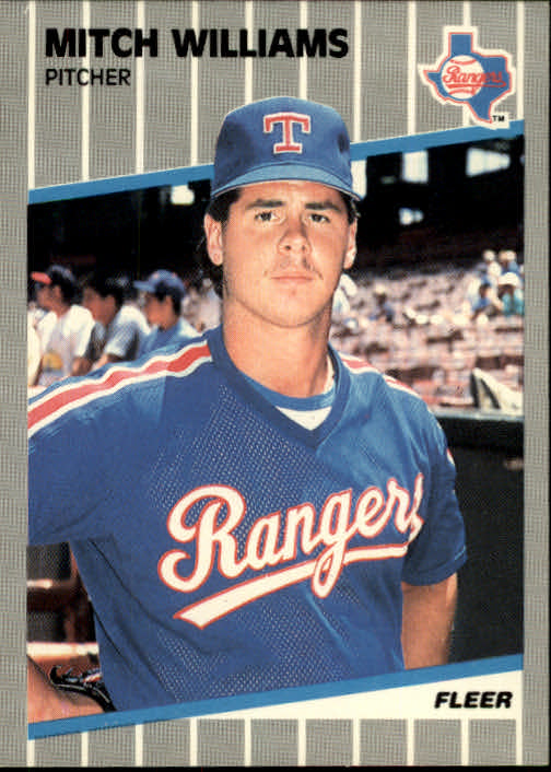 1989 Fleer #536 Mitch Williams front image