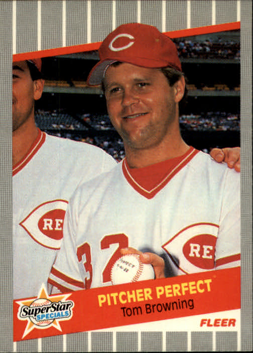 1989 Fleer #629 Tom Browning Perfect