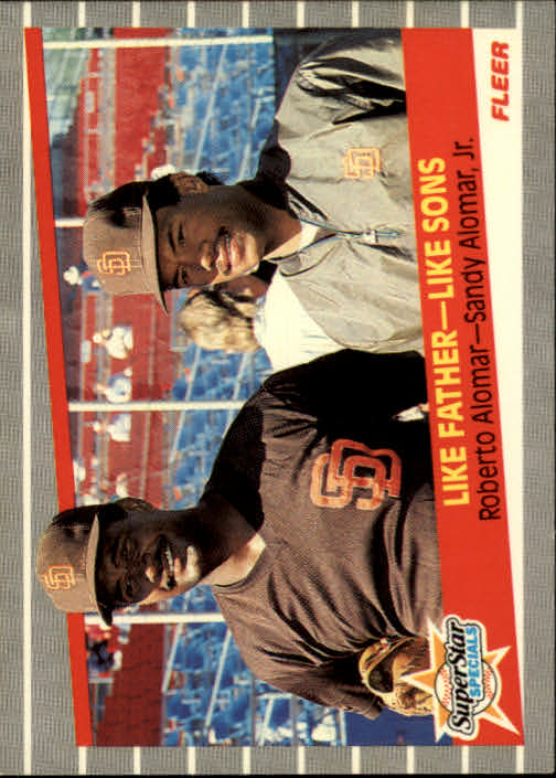 1989 Fleer #630 Roberto Alomar/Sandy Alomar Jr. UER/(Names on card listed/in wrong order)