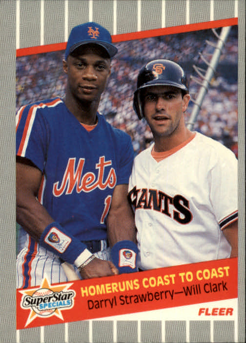 1989 Fleer #632 Darryl Strawberry/Will Clark UER (Homeruns/should be two words)