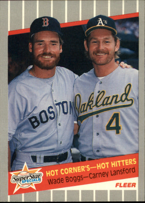 1989 Fleer #633 Wade Boggs/Carney Lansford UER/(Boggs hit .366 in/'86, should be '88)
