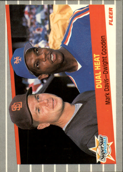 1989 Fleer #635 Mark Davis/Dwight Gooden