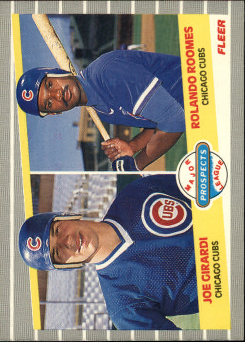 1989 Fleer #644 Joe Girardi RC/Rolando Roomes