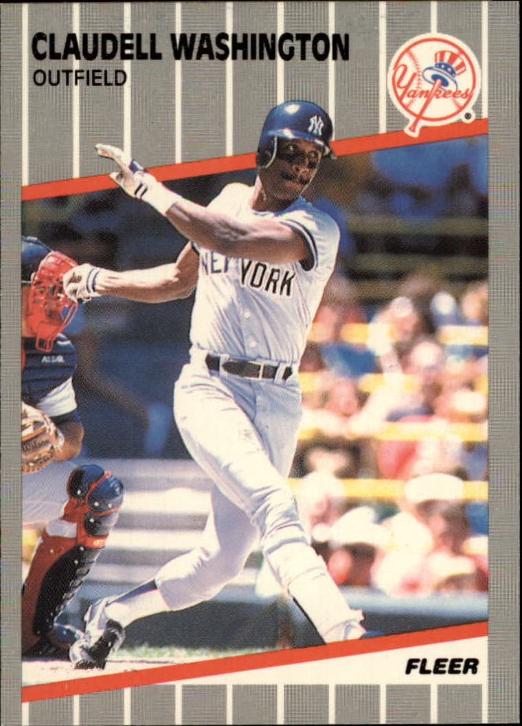 1989 Fleer Glossy #272 Claudell Washington