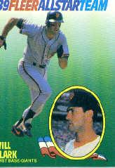 1989 Fleer All-Stars #3 Will Clark
