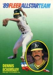 1989 Fleer All-Stars #4 Dennis Eckersley