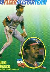 1989 Fleer All-Stars #5 Julio Franco