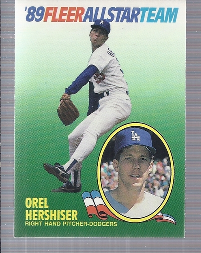 1989 Fleer All-Stars #7 Orel Hershiser