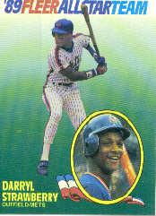 1989 Fleer All-Stars #10 Darryl Strawberry