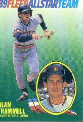1989 Fleer All-Stars #11 Alan Trammell