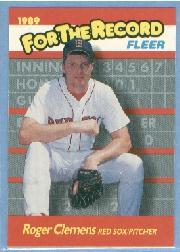 1989 Fleer For The Record #2 Roger Clemens