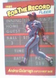 1989 Fleer For The Record #3 Andres Galarraga