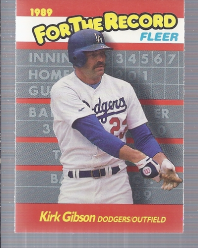 1989 Fleer For The Record #4 Kirk Gibson