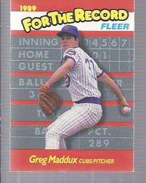1989 Fleer For The Record #5 Greg Maddux