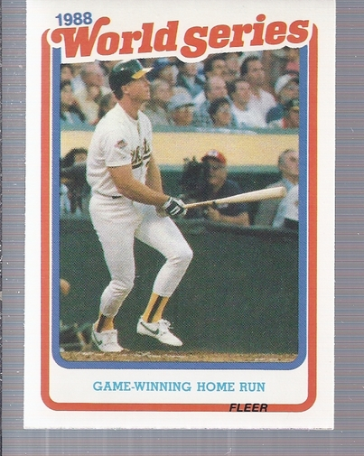 1989 Fleer World Series #8 Mark McGwire