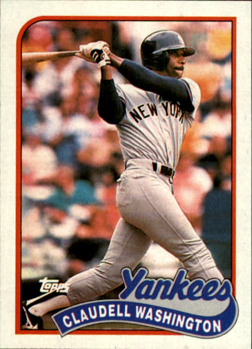 1989 Topps #185 Claudell Washington