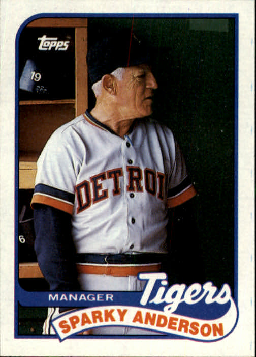 1989 Topps #193 Sparky Anderson MG/(Team checklist back)/UER (55