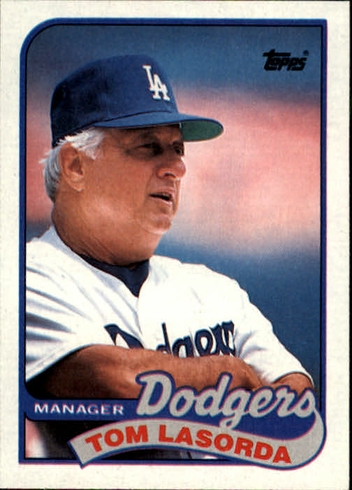 1989 Topps #254 Tom Lasorda MG