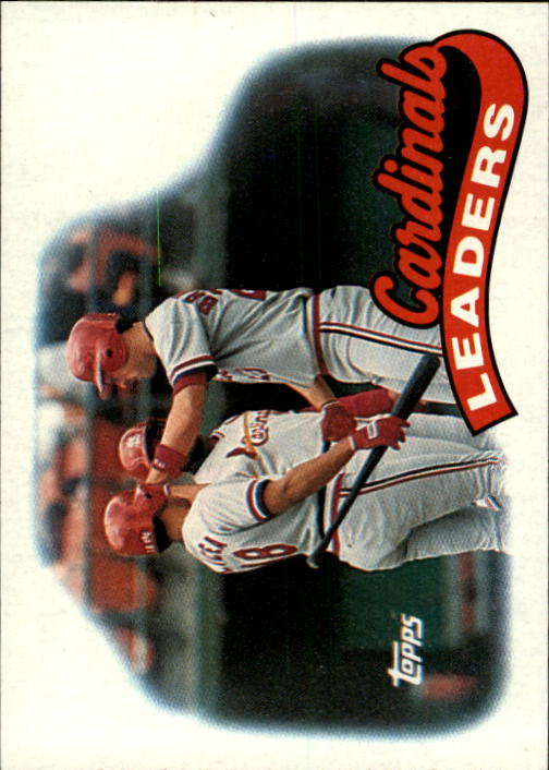1989 Topps #261 St.Louis Cardinals TL/Tom Brunansky/(With Luis A front image