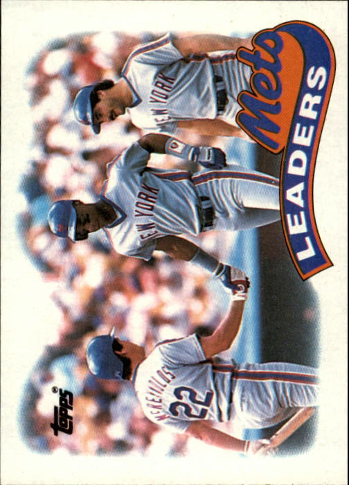 1989 Topps #291 New York Mets TL/Darryl Strawberry/(With Keith H