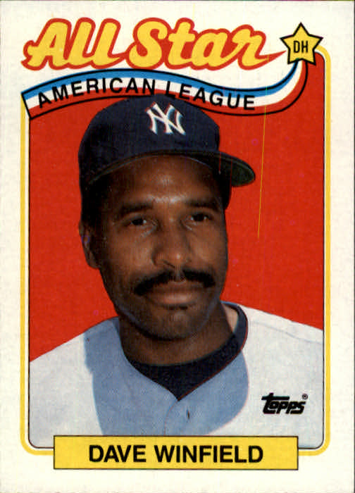 1989 Topps #407 Dave Winfield AS