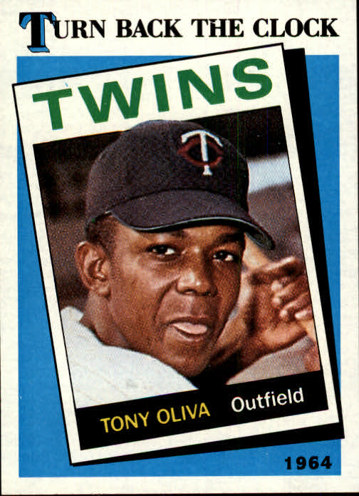 1989 Topps #665B Tony Oliva TBC 64/COR (fabricated/card)