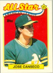 1989 Topps Tiffany #401 Jose Canseco AS