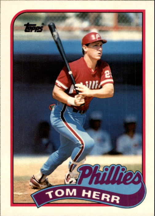 1989 Topps Traded #49T Tom Herr