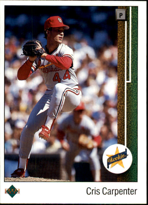 1989 Upper Deck #8 Cris Carpenter RC *
