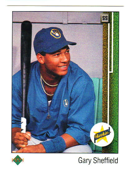 1989 Upper Deck #13A Gary Sheffield ERR RC