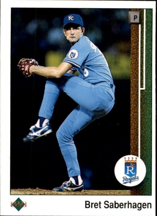 1989 Upper Deck #37 Bret Saberhagen UER/(Hit total 931/should be 10