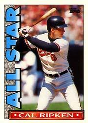 1990 Topps TV All-Stars #19 Cal Ripken