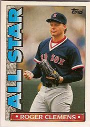 1990 Topps TV All-Stars #25 Roger Clemens