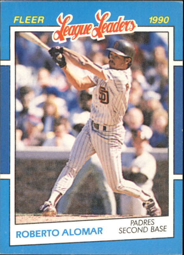 1990 Fleer League Leaders #1 Roberto Alomar