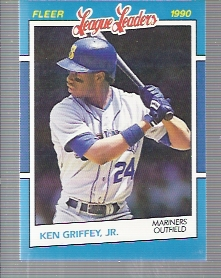 1990 Fleer League Leaders #14 Ken Griffey Jr.