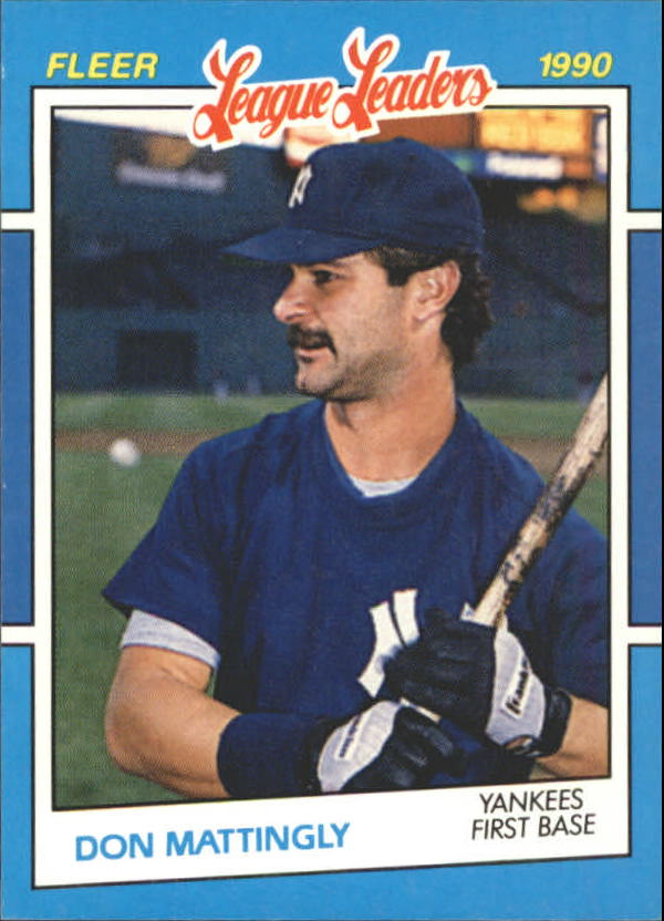 1990 Fleer League Leaders #23 Don Mattingly