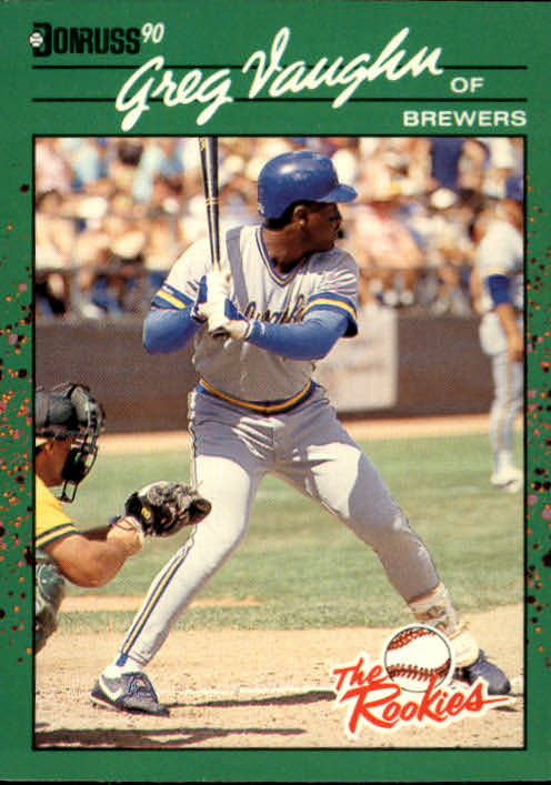 1990 Donruss Rookies #16 Greg Vaughn
