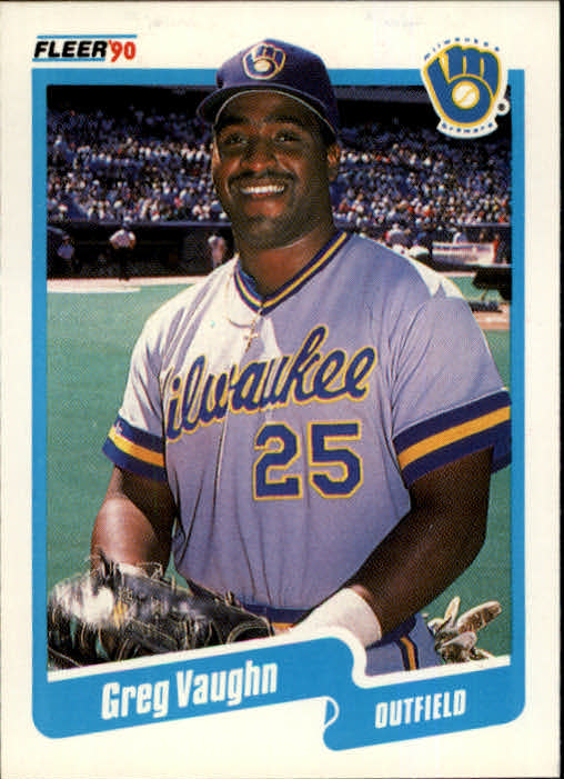 1990 Fleer #339 Greg Vaughn