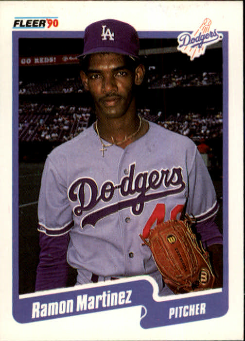 1990 Fleer #402 Ramon Martinez front image