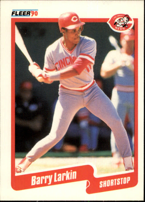 1990 Fleer #423 Barry Larkin