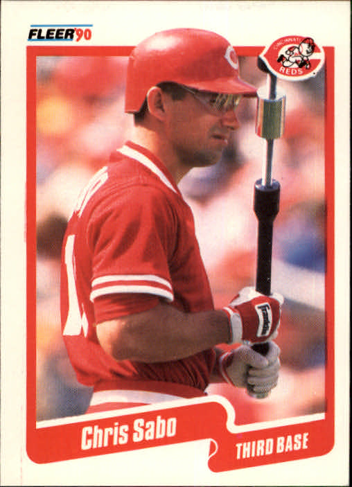1990 Fleer #433 Chris Sabo
