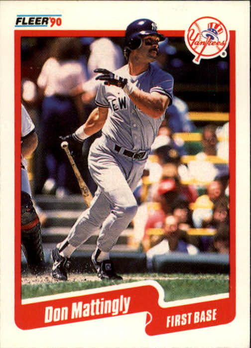 1990 Fleer #447 Don Mattingly
