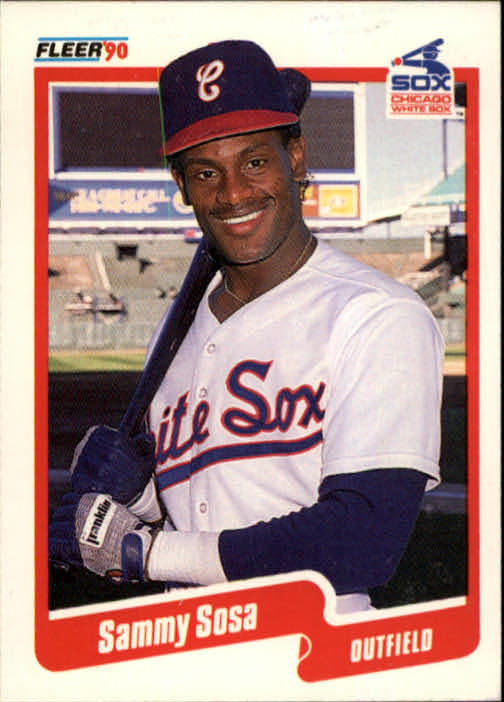 1990 Fleer #548 Sammy Sosa RC