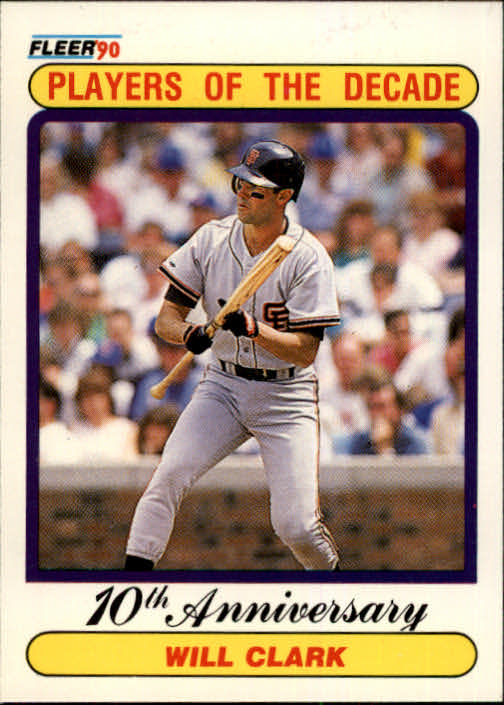 1990 Fleer #630A Will Clark '89 ERR/(32 total bases/on card back)